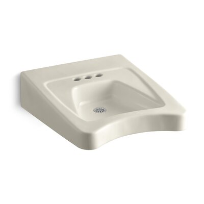 Morningside Ceramic 20 Wall Mount Bathroom Sink with Overflow Finish: Almond