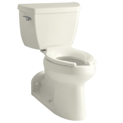 Barrington Comfort Height Two-Piece Elongated 1.0 GPF Toilet with Pressure Lite Flushing Technology, Right-Hand Trip Lever and Toilet Tank Locks Finish: Biscuit
