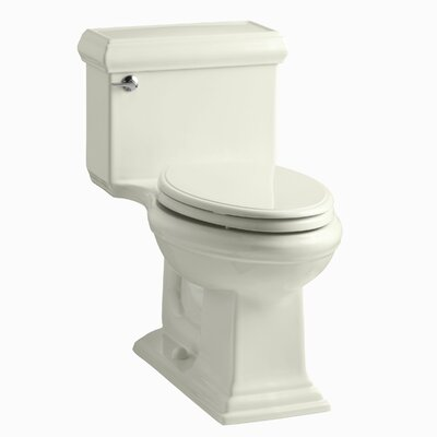 Memoirs Classiccomfort Height One-Piece Elongated 1.28 GPF Toilet with Aquapiston Flush Technology and Left-Hand Trip Lever Finish: Biscuit