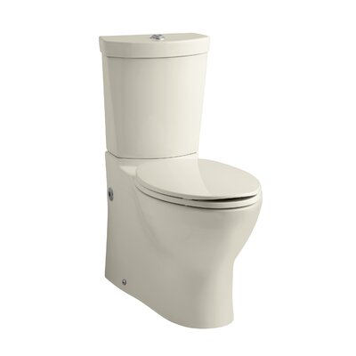 Persuade Skirted Two-Piece Elongated Dual-Flush Toilet with Top Actuator Finish: Almond