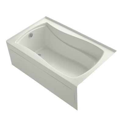 Mariposa Alcove 60 x 36 Soaking Bathtub Finish: Dune