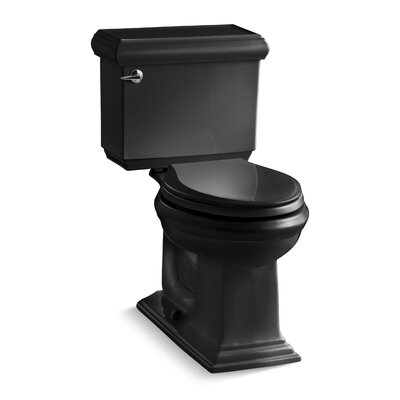 Memoirs Classic Comfort Height Two-Piece Elongated 1.28 GPF Toilet with Aquapiston Flush Technology and Left-Hand Trip Lever Finish: Black Black