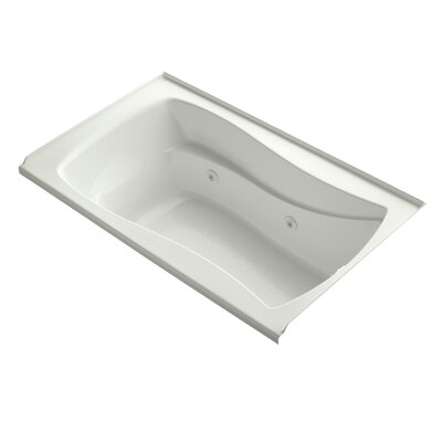 Mariposa Alcove 60 x 36 Whirpool Bathtub Finish: Dune, Adjustable Jets: No
