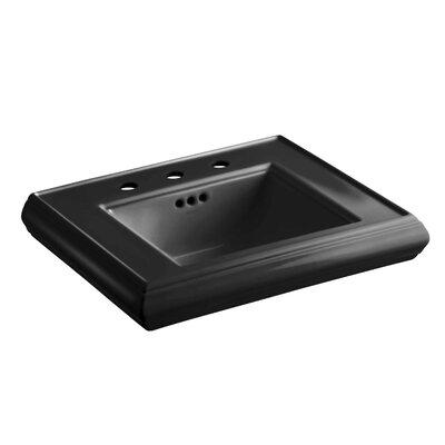 Memoirs� Ceramic 24 Pedestal Bathroom Sink with Overflow Finish: Black Black