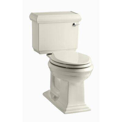 Memoirs Classic Comfort Height Two-Piece Elongated 1.28 GPF Toilet with Aquapiston Flush Technology and Right-Hand Trip Lever Finish: Almond