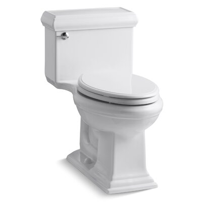 Memoirs Classiccomfort Height One-Piece Elongated 1.28 GPF Toilet with Aquapiston Flush Technology and Left-Hand Trip Lever Finish: White