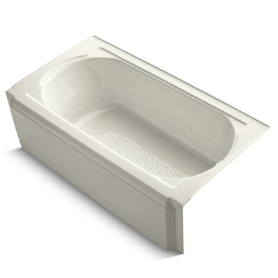 Memoirs Alcove Bubblemassage 60 x 34 Soaking Bathtub Finish: Biscuit, Jet Finish: Biscuit