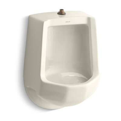 Freshman Siphon-Jet Wall-Mount 1 GPF Urinal with Top Spud Finish: Almond