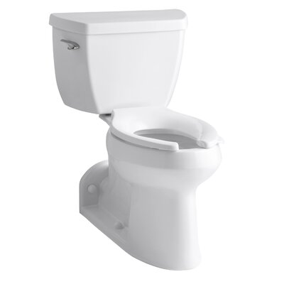 Barrington Comfort Height Two-Piece Elongated 1.0 GPF Toilet with Pressure Lite Flushing Technology, Right-Hand Trip Lever and Toilet Tank Locks Finish: White