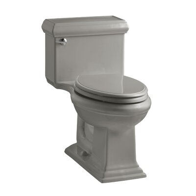 Memoirs Classiccomfort Height One-Piece Elongated 1.28 GPF Toilet with Aquapiston Flush Technology and Left-Hand Trip Lever Finish: Cashmere