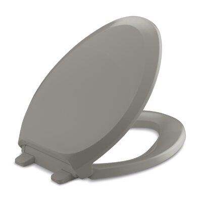 French Curve Quiet-Close with Grip-Tightelongated Toilet Seat Finish: Cashmere