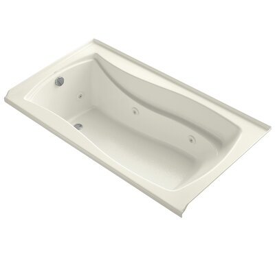 Mariposa Alcove 66 x 36 Whirpool Bathtub Finish: Biscuit