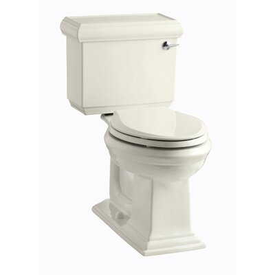 Memoirs Classic Comfort Height Two-Piece Elongated 1.28 GPF Toilet with Aquapiston Flush Technology and Right-Hand Trip Lever Finish: Biscuit