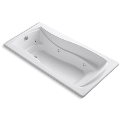 Mariposa 72 x 36 Whirlpool Bathtub Finish: White