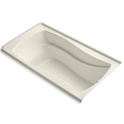 Mariposa Alcove 66 x 36 Soaking Bathtub Finish: Almond