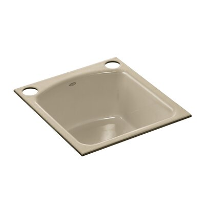 Napa Under-Mount Bar Sink with 2 Oversize Faucet Holes Finish: Mexican Sand