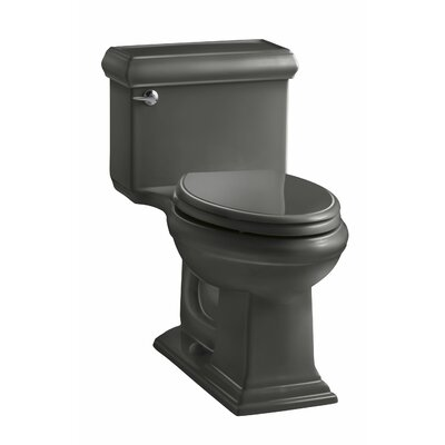 Memoirs Classiccomfort Height One-Piece Elongated 1.28 GPF Toilet with Aquapiston Flush Technology and Left-Hand Trip Lever Finish: Thunder Grey