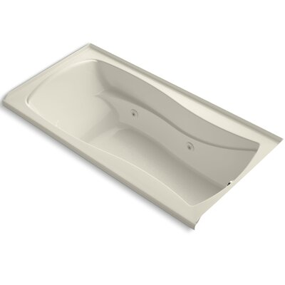 Mariposa 72 x 36 Whirlpool Bathtub Finish: Almond