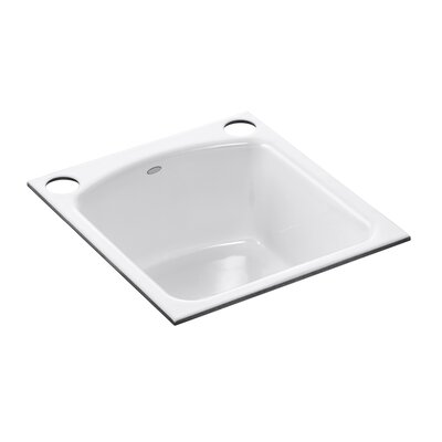 Napa Under-Mount Bar Sink with 2 Oversize Faucet Holes Finish: White