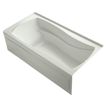 Mariposa Alcove Bubblemassage 72 x 36 Soaking Bathtub Finish: Dune