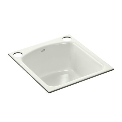 Napa Under-Mount Bar Sink with 2 Oversize Faucet Holes Finish: Dune