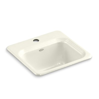 Northland Top-Mount Bar Sink Finish: Biscuit, Number of Faucet Holes: 3