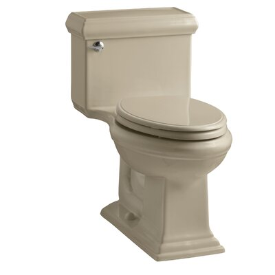 Memoirs Classiccomfort Height One-Piece Elongated 1.28 GPF Toilet with Aquapiston Flush Technology and Left-Hand Trip Lever Finish: Mexican Sand