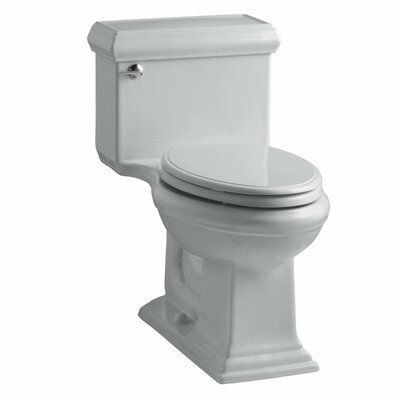 Memoirs Classiccomfort Height One-Piece Elongated 1.28 GPF Toilet with Aquapiston Flush Technology and Left-Hand Trip Lever Finish: Ice Grey