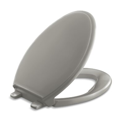 Glenbury Quiet-Close with Grip-Tightelongated Toilet Seat Finish: Cashmere