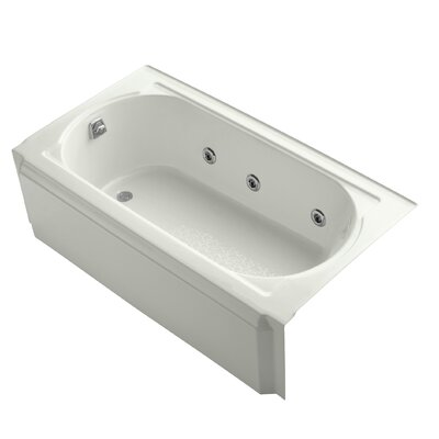Memoirs Alcove 60 x 34 Whirpool Bathtub Finish: Dune