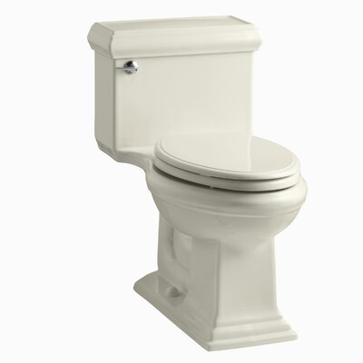 Memoirs Classiccomfort Height One-Piece Elongated 1.28 GPF Toilet with Aquapiston Flush Technology and Left-Hand Trip Lever Finish: Almond
