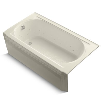 Memoirs Alcove Bubblemassage 60 x 34 Soaking Bathtub Finish: White, Jet Finish: Polished Chrome