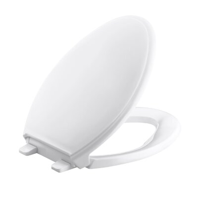 Glenbury Quiet-Close with Grip-Tightelongated Toilet Seat Finish: White