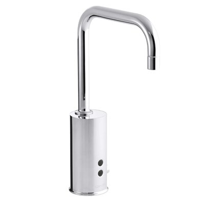 Gooseneck Single-Hole Touchless Dc-Powered Commercial Faucet with Insight Technology and Temperature Mixer Finish: Polished Chrome