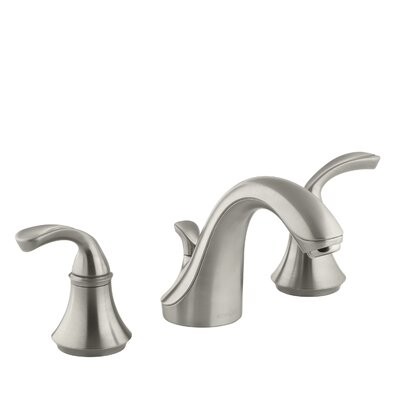 Fort� Widespread Bathroom Sink Faucet with Sculpted Lever Handles Finish: Vibrant Brushed Nickel