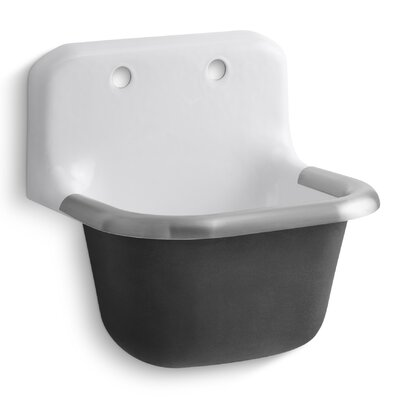 Bannon 22.25 x 18.25 Single Wall-Mounted or P-Trap Mounted Service Sink