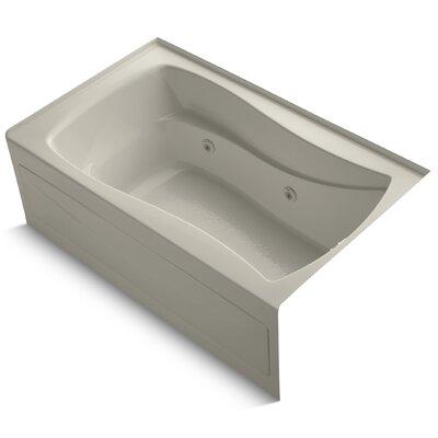 Mariposa Alcove 60 x 36 Whirpool Bathtub Finish: Sandbar
