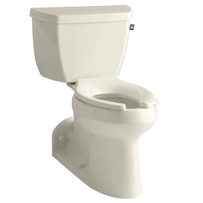 Barrington Comfort Height Two-Piece Elongated 1.0 GPF Toilet with Pressure Lite Flushing Technology and Right-Hand Trip Lever Finish: Almond