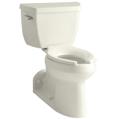 Barrington Comfort Height Two-Piece Elongated 1.0 GPF Toilet with Pressure Lite Flushing Technology and Left-Hand Trip Lever Finish: Biscuit