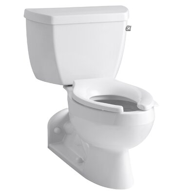 Barrington Two-Piece Elongated 1.0 GPM Toilet with Pressure Lite Flushing Technology and Right-Hand Trip Lever Finish: White