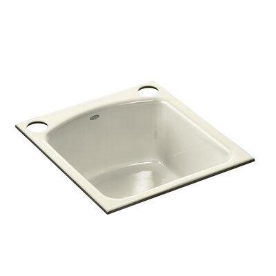 Napa Under-Mount Bar Sink with 2 Oversize Faucet Holes Finish: Cane Sugar