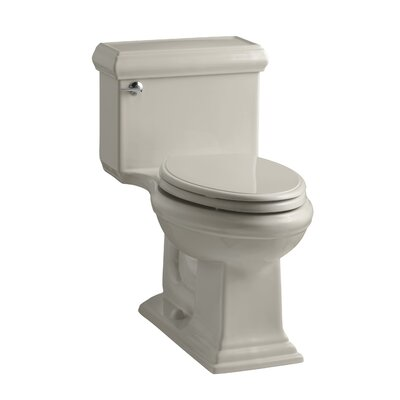 Memoirs Classiccomfort Height One-Piece Elongated 1.28 GPF Toilet with Aquapiston Flush Technology and Left-Hand Trip Lever Finish: Sandbar