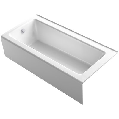 Bellwether Alcove 66 x 32 Soaking Bathtub Finish: White