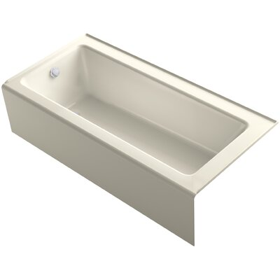 Bellwether Alcove 66 x 32 Soaking Bathtub Finish: Almond