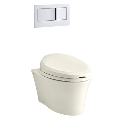 C3 201Elongated Bidet Toilet Seat with In-Line Heater and Remote Controls Finish: Biscuit
