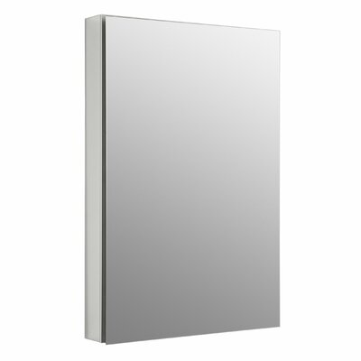 Catalan 23.375 W x 35.25 H Aluminum Single-Door Medicine Cabinet with Degree Hinge