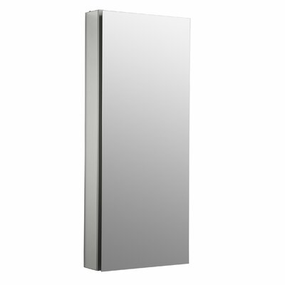 Catalan 15 W x 36 H Aluminum Single-Door Medicine Cabinet with 170 Degree Hinge