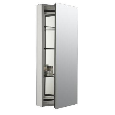 Catalan 15 x 36 Aluminum Single-Door Medicine Cabinet with 107 Degree Hinge