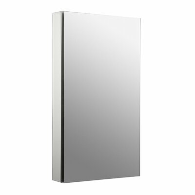 Catalan 20-1/8 W x 36 H Aluminum Single-Door Medicine Cabinet with 170 Degree Hinge