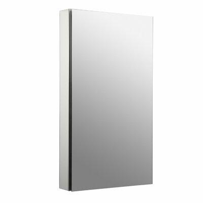 Catalan 20-1/8 x 36 Aluminum Single-Door Medicine Cabinet with 107 Degree Hinge